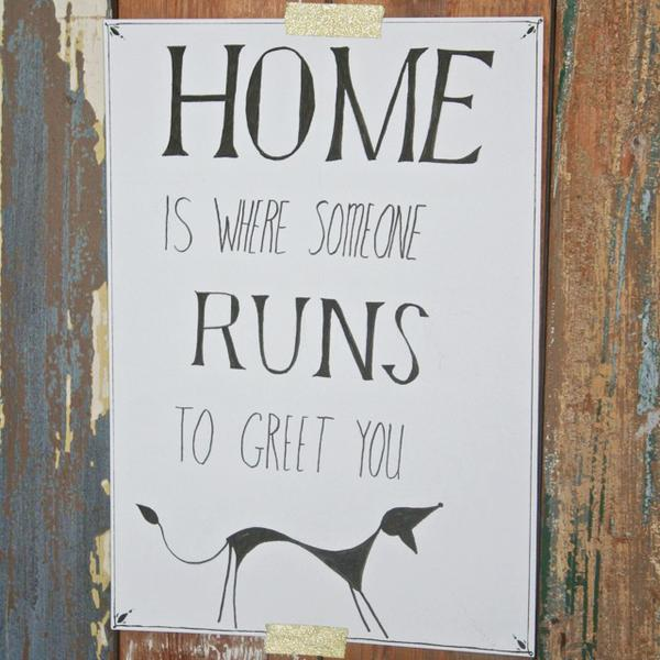 Christmas holiday greetings quote Home is where someone runs to greet you.