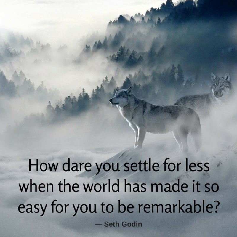 Remark quote How dare you settle for less when the world has made it so easy for you to be re