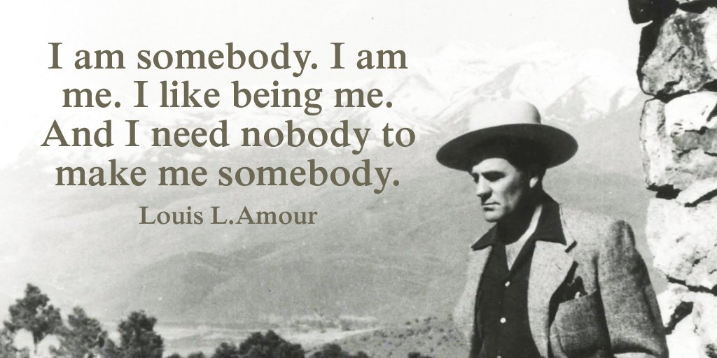 Picture quote by Louis L'Amour about personality