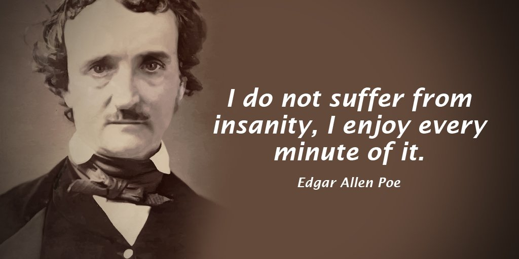 Suffering quote I do not suffer from insanity, I enjoy every minute of it.