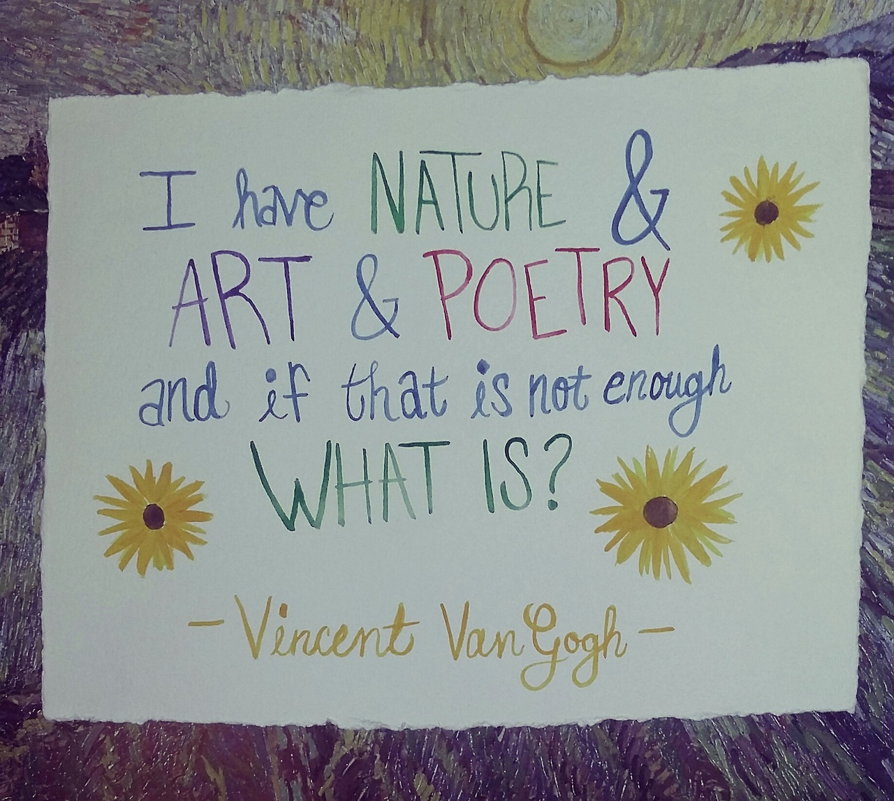 Poetry image quote by Vincent Van Gogh