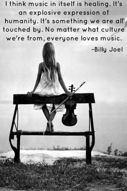 Healing quote I think music in itself is healing. It's an explosive expression of humanity. It