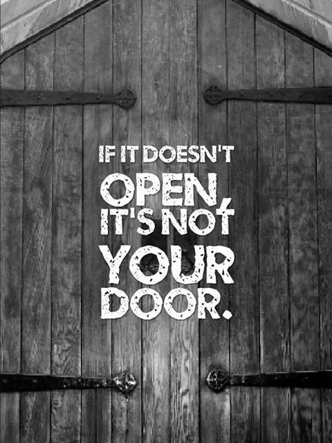 If It doesnu0027t open Itu0027s not your door. & Best Door Quotes Sayings and Quotations - Quotlr pezcame.com