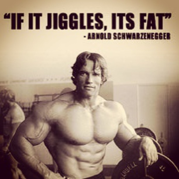Fitness quote If it jiggles, it's fat.