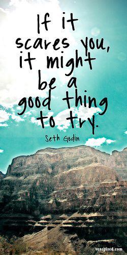 Good things quote If it scares you, it might be a good thing to try.