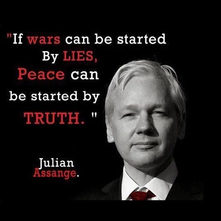If wars can be started by lies, peace can be started by truth. - Julian Assange