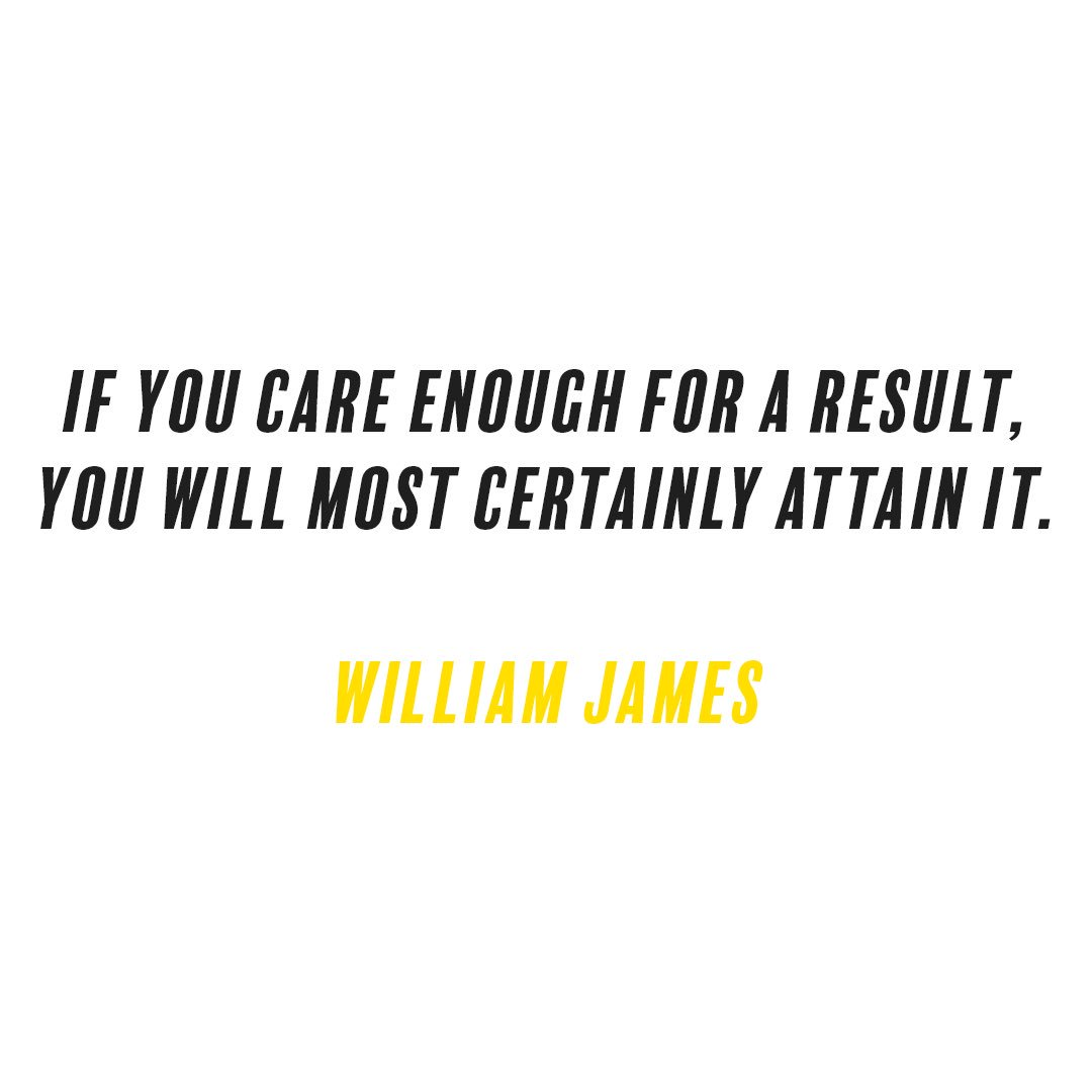 Attaining quote If you care enough for a result, you will most certainly attain it.