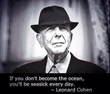 Ocean quote If you dont become the ocean, youll be seasick everyday.