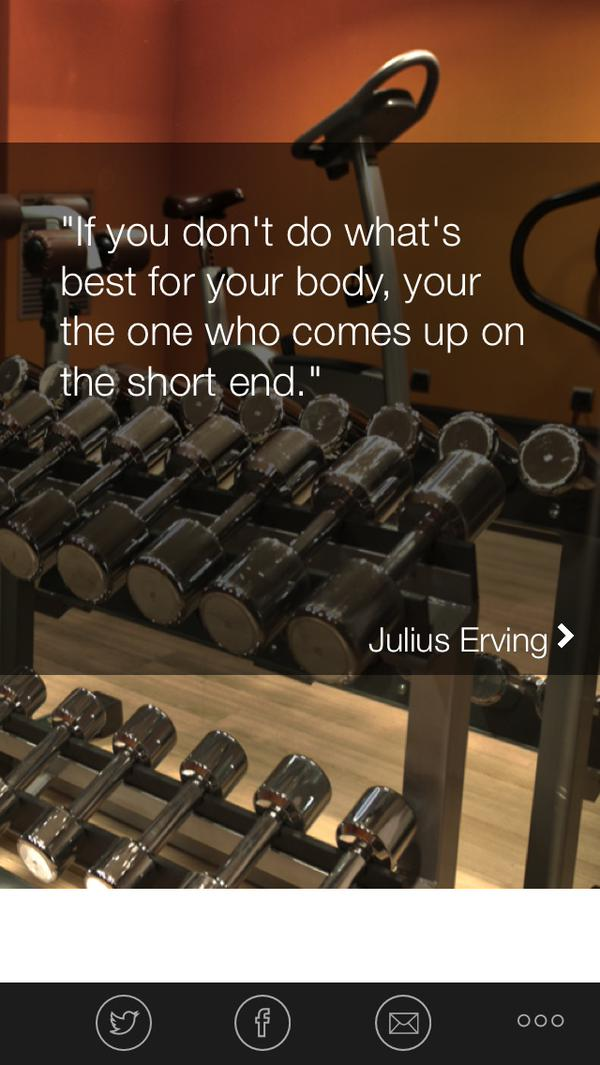 Fitness quote If you don't do what's best for your body, you're the one who comes up on the sh
