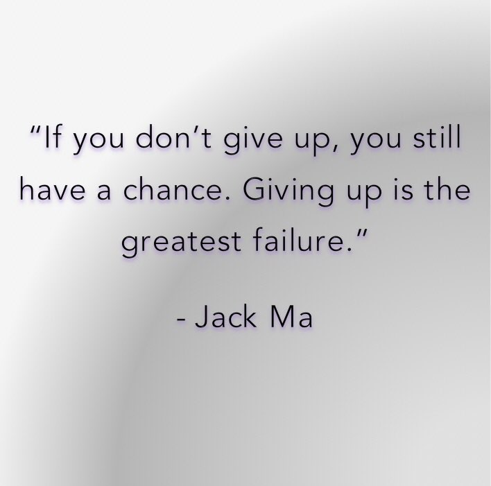 Greatest military quote If you don't give up, you still have a chance. Giving up is the greatest failure