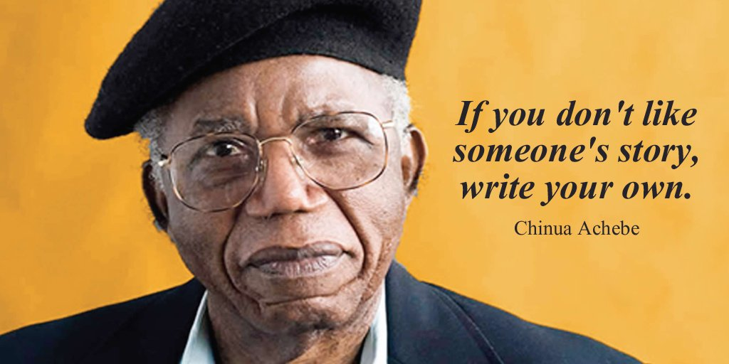Picture quote by Chinua Achebe about inspirational