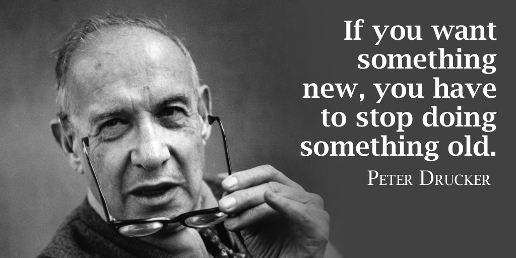New generation quote If you want something new, you have to stop doing something old.