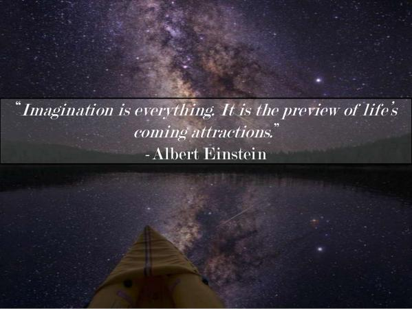 Attracted quote Imagination is everything. It is the preview of life's coming attractions.