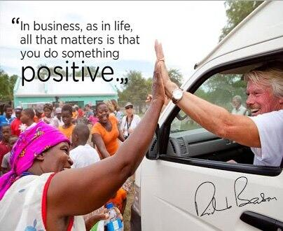 Picture quote by Richard Branson about positive