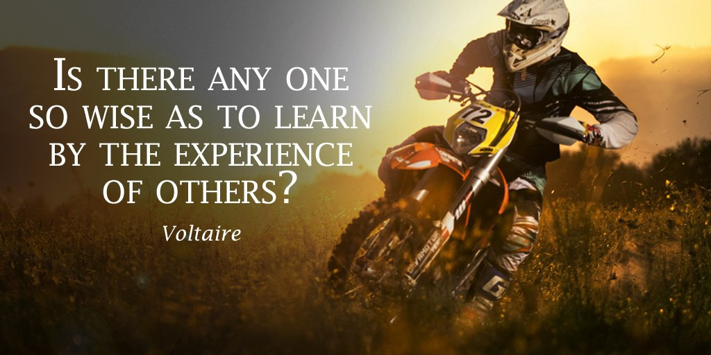 Voltaire quote Is there anyone so wise as to learn by the experience of others?