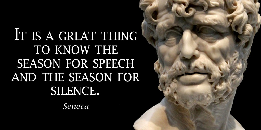Speech quote It is a great thing to know the season for speech and the season for silence.