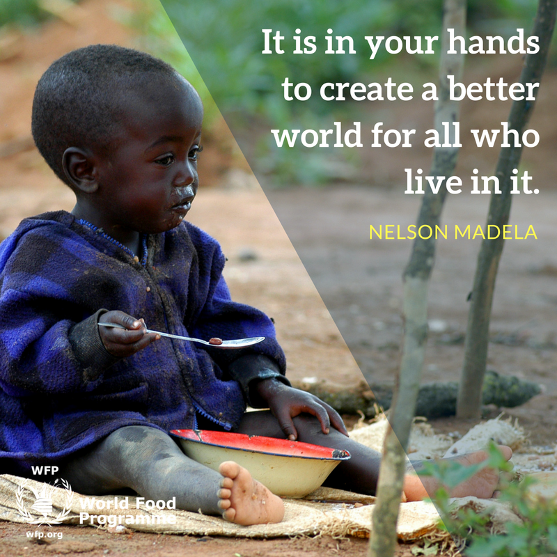 Hand quote It is in your hands to create a better world for all who live in it.