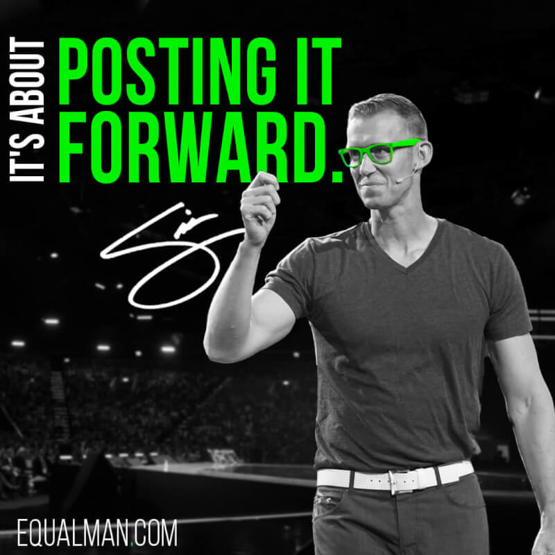 Social quote It's about posting it forward. All digital leaders have mastered the art of post
