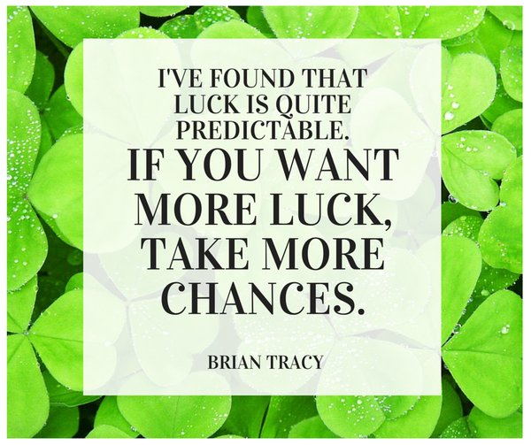 Picture quote by Brian Tracy about luck