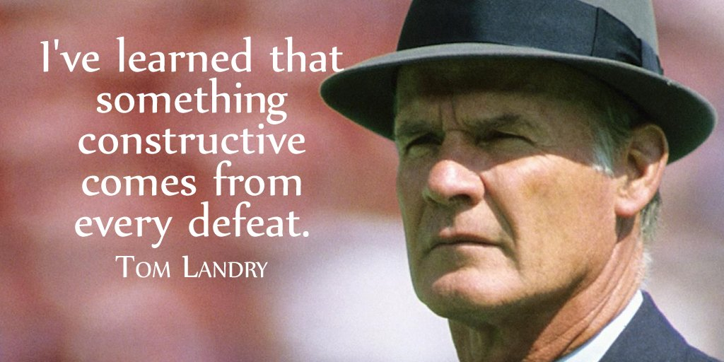 I've learned that something constructive comes from every defeat.