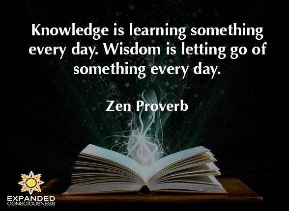 Knowledge and learning quote Knowledge is learning something every day. Wisdom is letting go of something eve