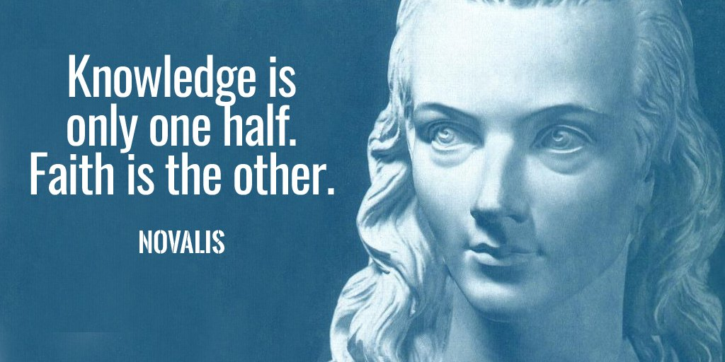 Faith image quote by Novalis