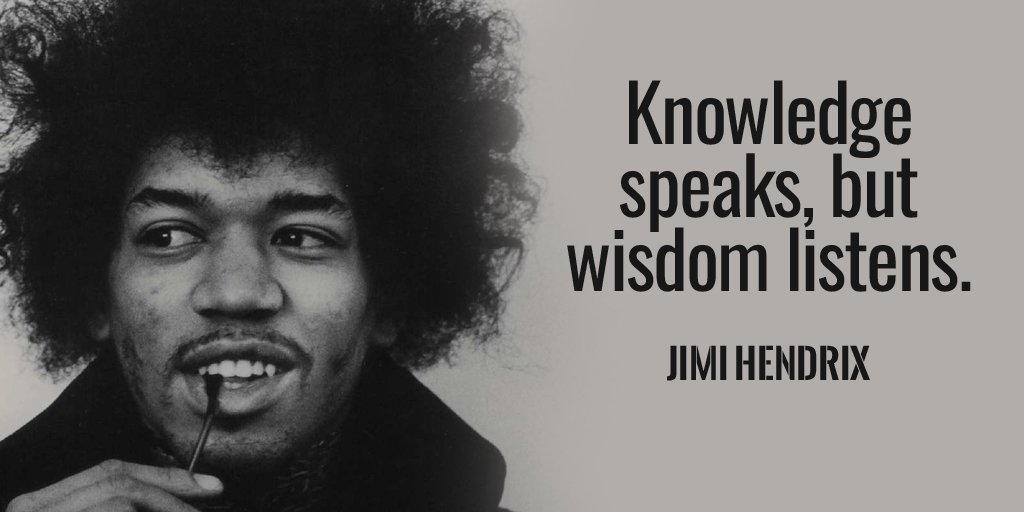 Picture quote by Jimi Hendrix about wisdom