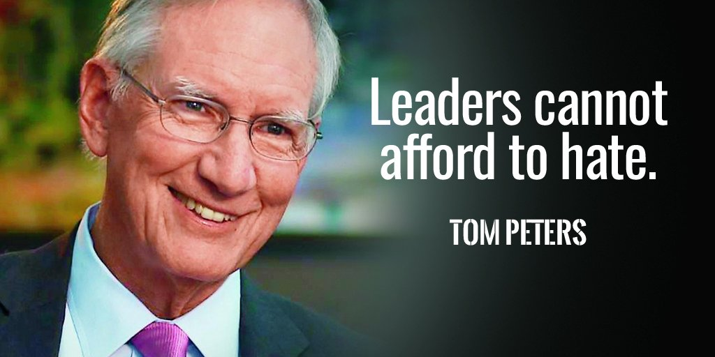 Affordable quote Leaders cannot afford to hate.