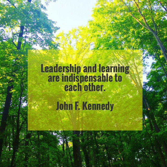 Relational quote Leadership and learning are indispensable to each other.