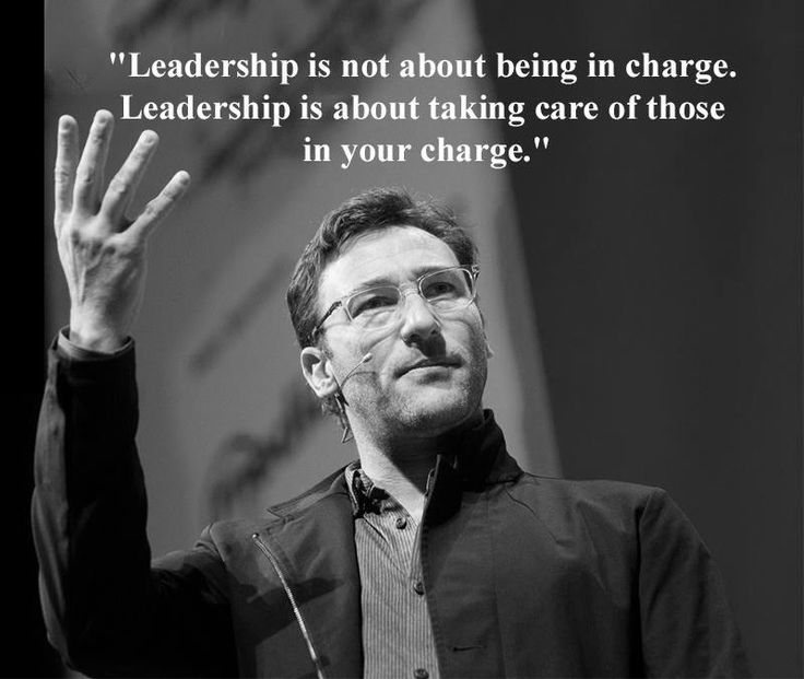 Be careful quote Leadership is not about being in charge. Leadership is about taking care of thos