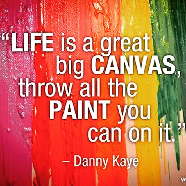 Throwing Paint On Canvas The Image Kid