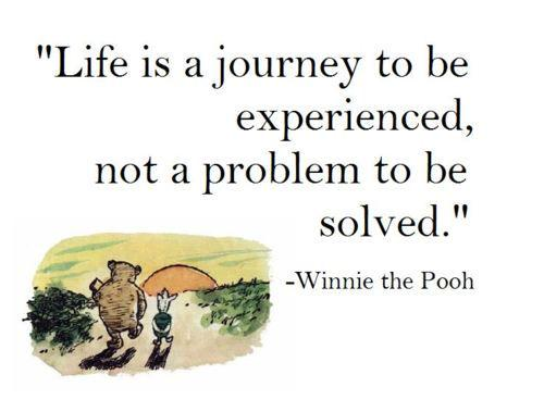 Marriage problems quote Life is a journey to be experienced, not a problem to be solved.