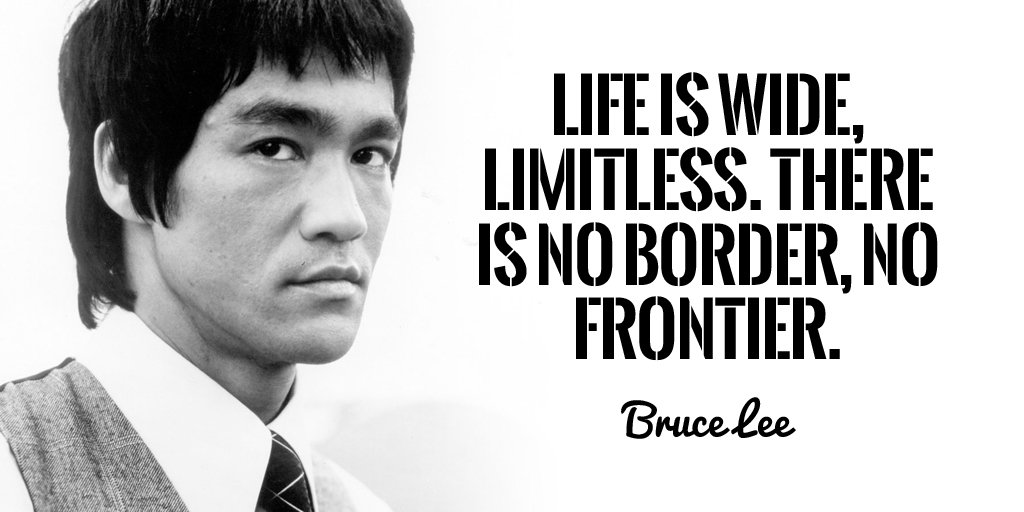 Limits quote Life is wide, limitless. There is no border, no frontier.