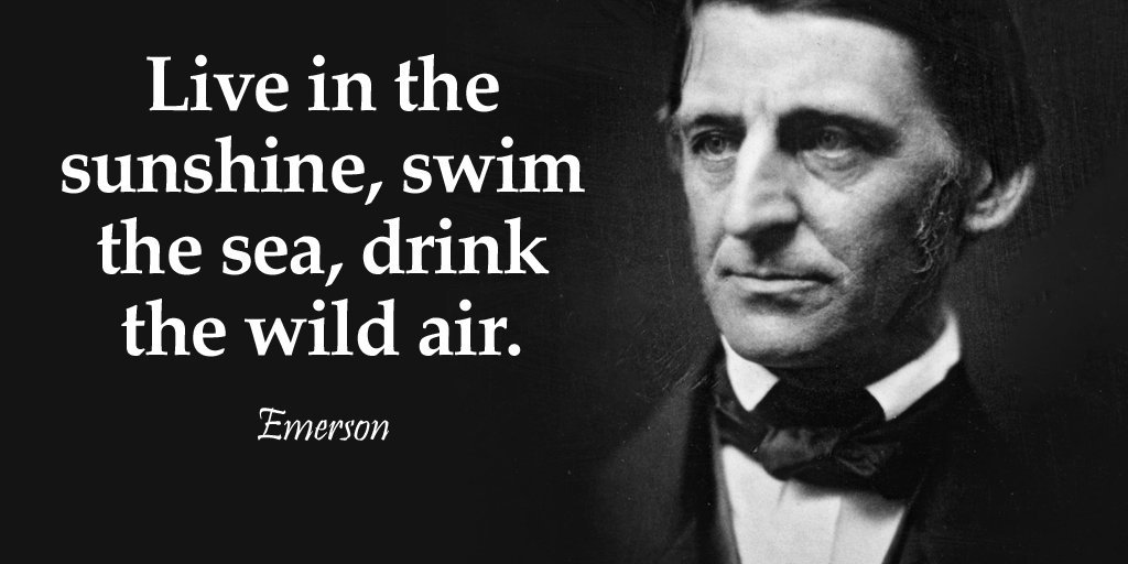 Live in the sunshine, swim the sea, drink the wild air. - Ralph Waldo Emerson