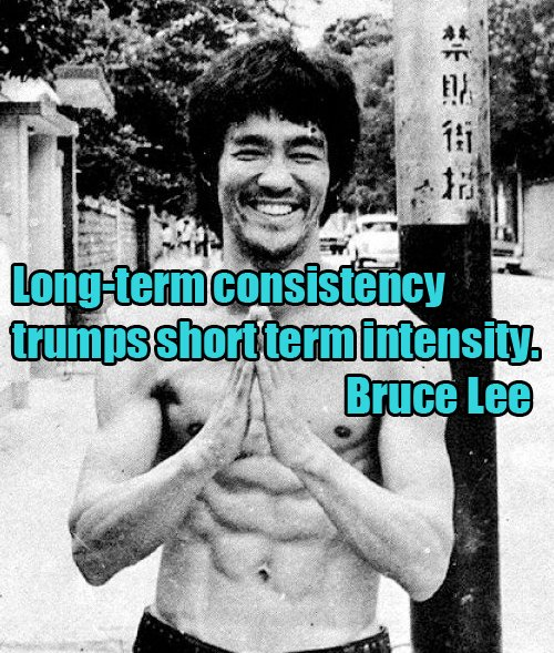Longings quote Long term consistency trumps short term intensity.