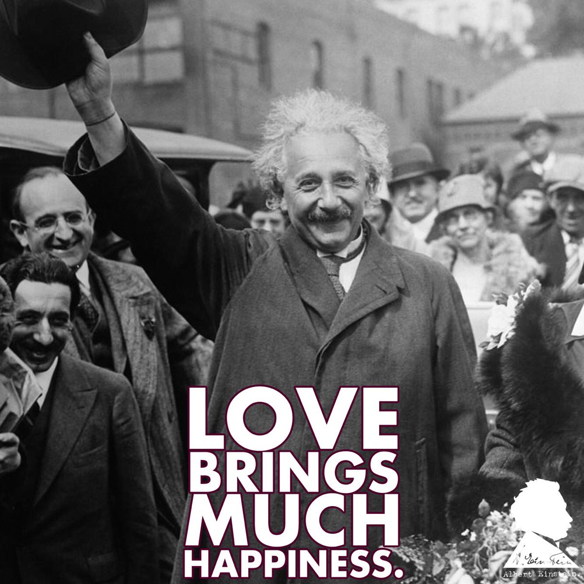 Love brings much happiness, much more so than pinning for someone brings pain. - Albert Einstein