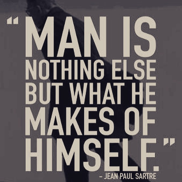Picture quote by Jean-Paul Sartre about self