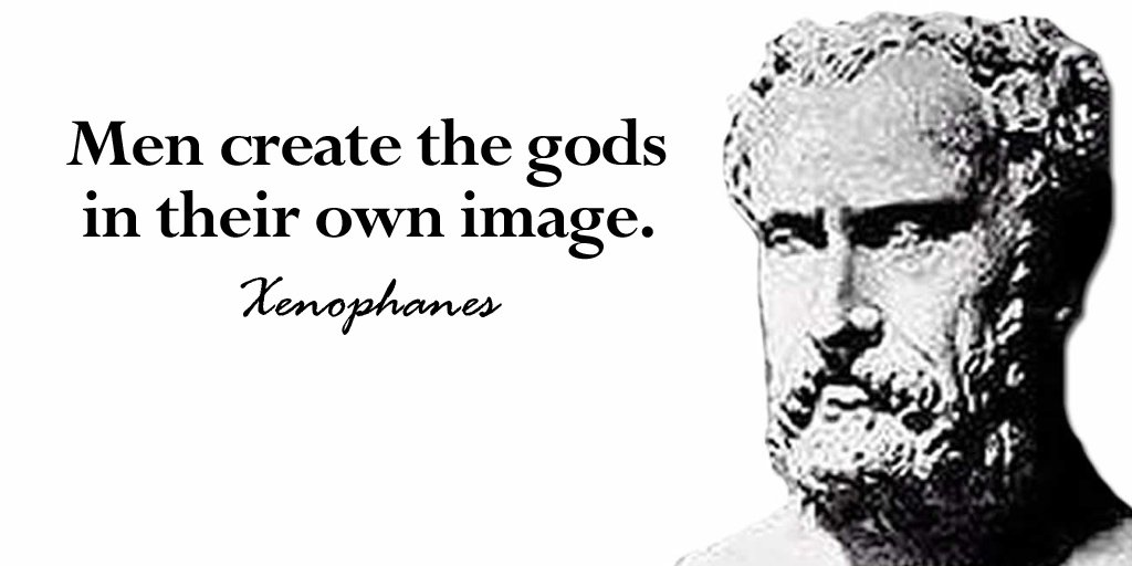 Creation science quote Men create the gods in their own image.