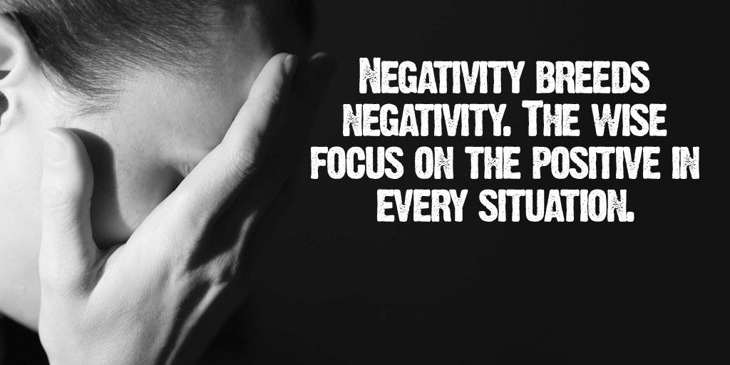Breed quote Negativity breeds negativity. The wise focus on the positive in every situation.