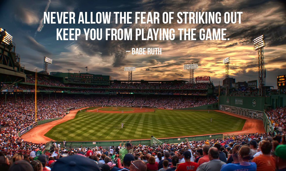 Picture quote by Babe Ruth about inspirational