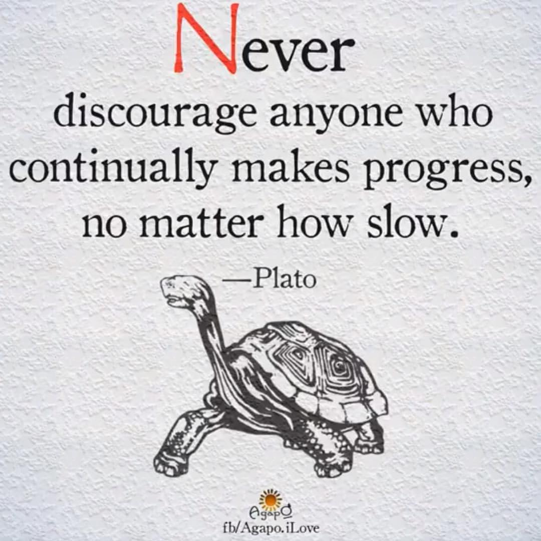 Now or never quote Never discourage anyone who continually makes progress, no mater how slow.