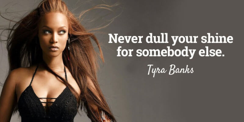 Picture quote by Tyra Banks about yourself