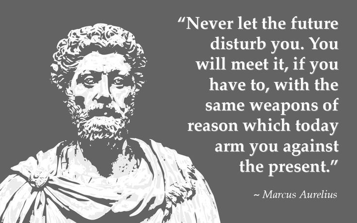 Marcus Aurelius quote Never let the future disturb you. You will meet it, if you have to, with the sam