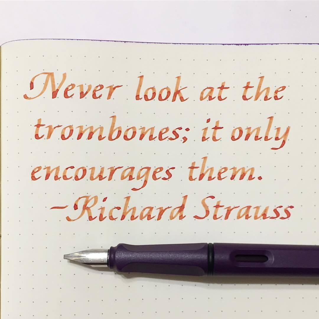 Never look at the trombones; it only encourages them. - Richard Strauss