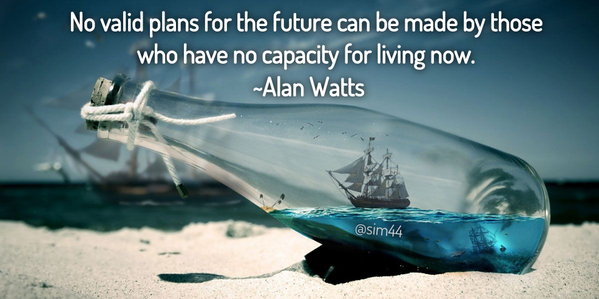 Valid quote No valid plans for the future can be made by those who have no capacity for livi