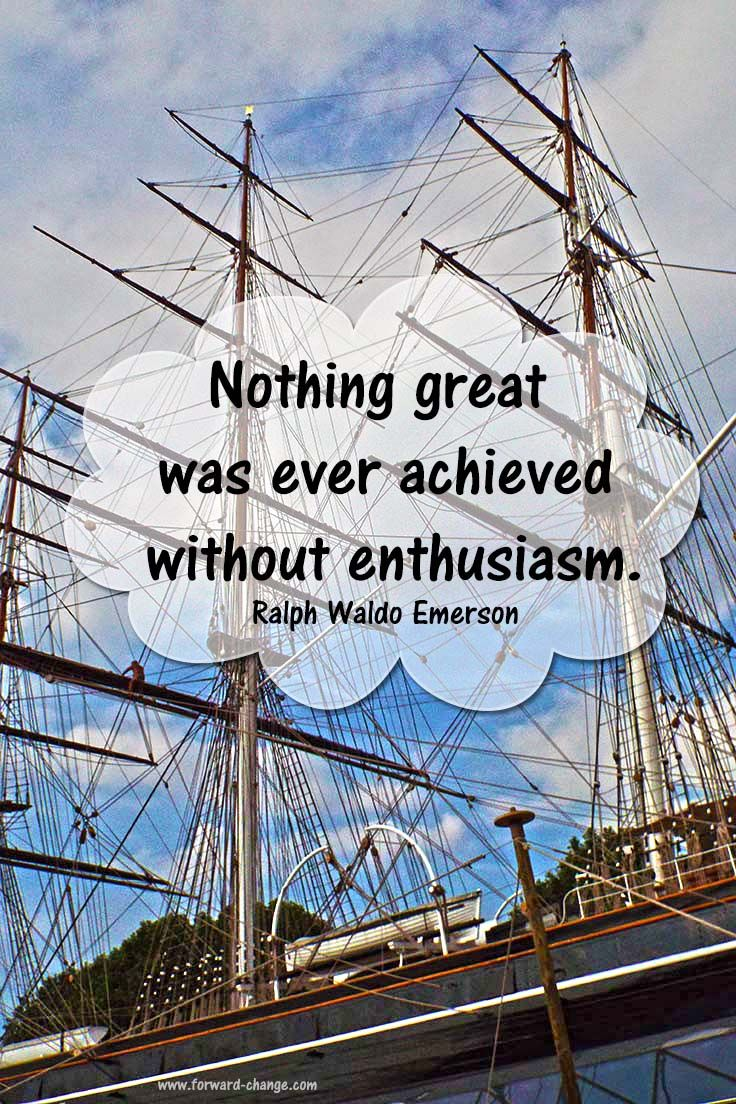 Picture quote by Ralph Waldo Emerson about achievement