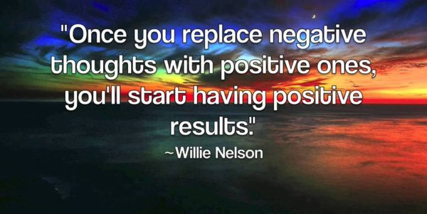 Positive thoughts quote Once you replace negative thoughts with positive ones, you'll start having posit