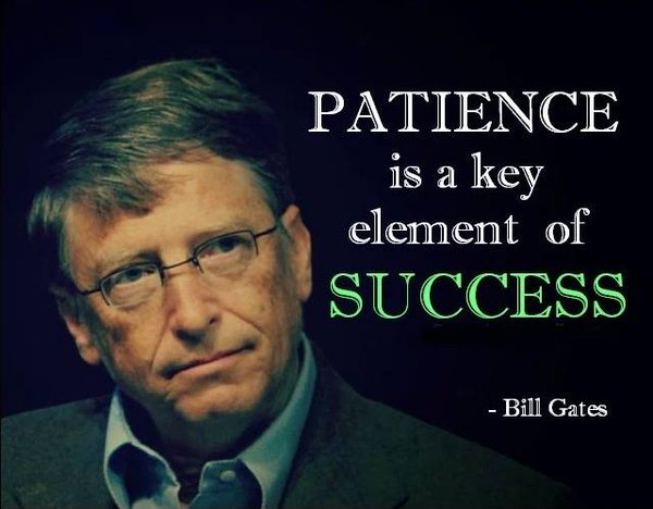 Elements quote Patience is a key element of success.