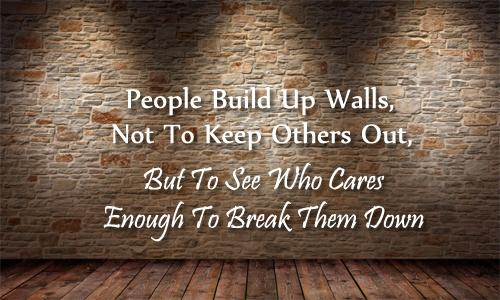 Occupy wall street quote People build up walls, not to keep others out, but to see who cares enough to br