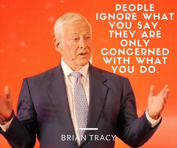 Concern quote People ignore what you say. They are only concerned with what you do.